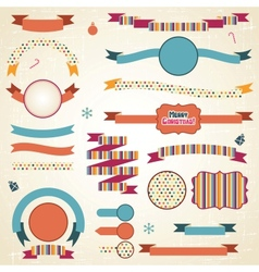 Christmas Ribbons Labels Set vector image vector image