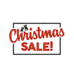christmas sale lettering and typography elements vector image vector image