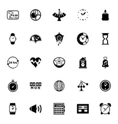 Design time icons on white background vector image
