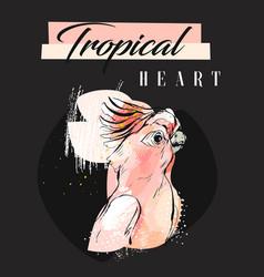 hand drawn abstract creative tropical vector image vector image