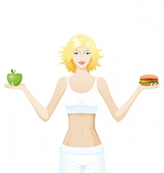 healthy eating vector image vector image