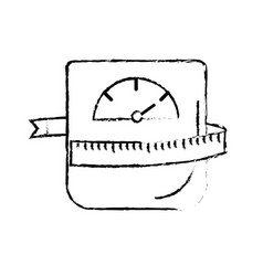 Figure weight machine with measuring to have vector
