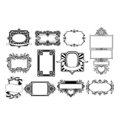 ornate frame and border design elements vector image