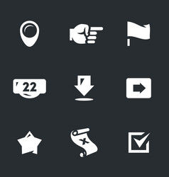 set of pointer icons vector image vector image