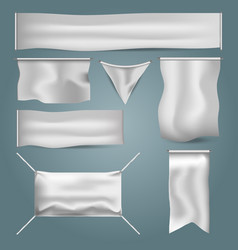 white blank textile vector image