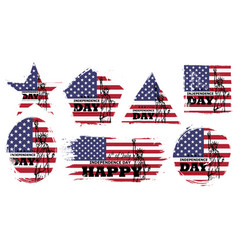 4th july independence day usa set vector image