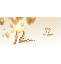 72nd anniversary celebration background vector image