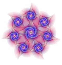 Abstract circular fractal spiral design vector