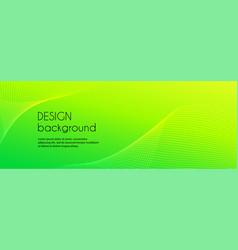 abstract green long banner wavy minimal vector image