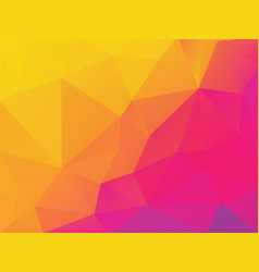abstract yellow purple polygonal background vector image