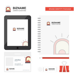 alarm business logo tab app diary pvc employee vector image