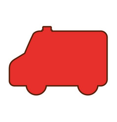 ambulance silhouette isolated icon vector image