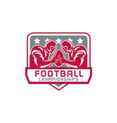 American Football Championship Crest Retro vector image