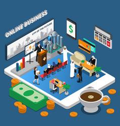 arab people online business isometric vector image
