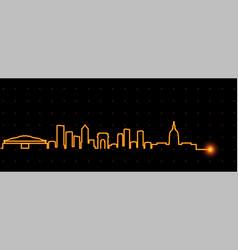 Atlanta light streak skyline vector