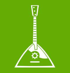 Balalaika icon green vector