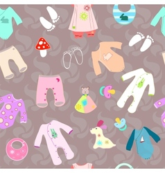Bashower birth seamless background vector