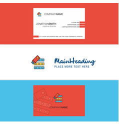 beautiful files copy logo and business card vector image