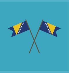 Bosnia and herzegovina flag icon in flat design vector
