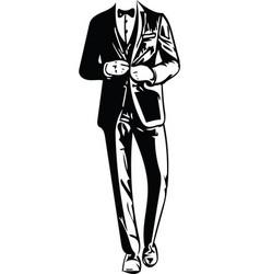 Business man black silhouette vector