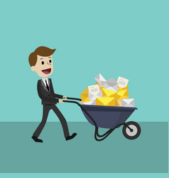 Businessman or manager receives many emails vector