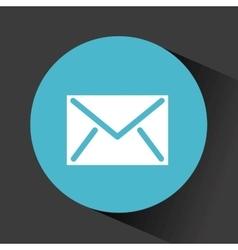 Button with envelope icon vector