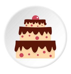 cake icon circle vector image