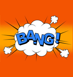 cartoon comics bang vector image