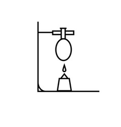 Chemistry test tube fire reaction icon vector