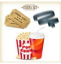 Cinema Set vector image