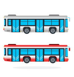 city bus flat isolated vector image