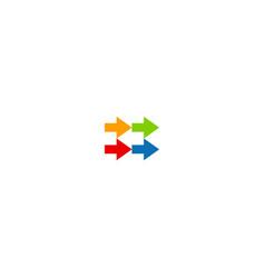 colorful arrow design logo vector image