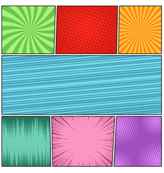 comic book page abstract background vector image