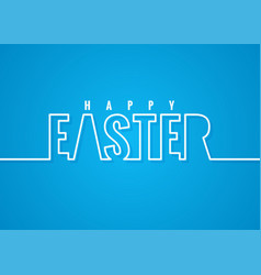 Easter line lettering poster background vector