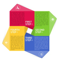 Four consecutive steps design template vector image