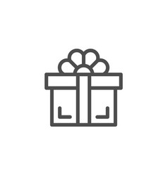 gift line icon vector image vector image