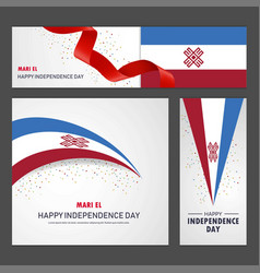 Happy mari-el independence day banner and vector