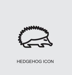 Hedgehog icon vector