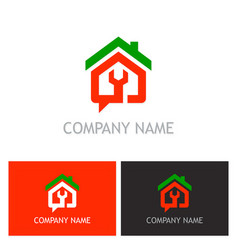 Home renovation maintenance logo vector