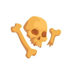 Human skull and bones maya civilization symbol vector