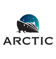 Icebreaker ship logotype vector