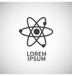 Icon flat element design atom vector image