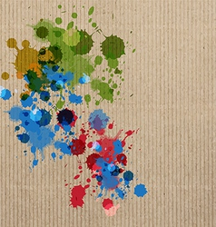 ink splash on cardboard vector image