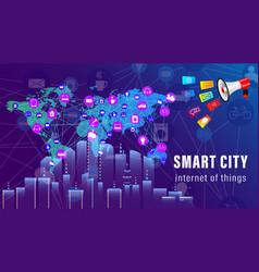 Iot smart city vector