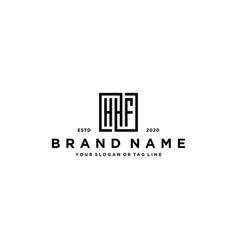 Letter hhf square logo design vector