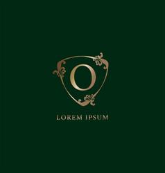 Letter o alphabetic logo design template luxury vector
