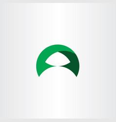 Logotype green letter a symbol sign logo vector