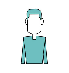 man faceless cartoon vector image