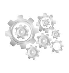 Metal gear industry icon vector