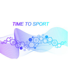 modern colored sport background abstract design vector image